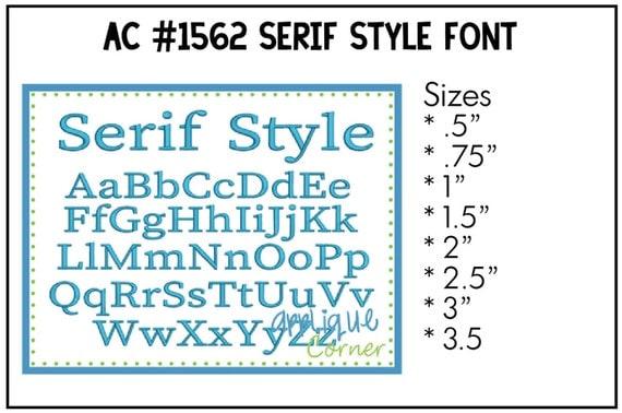 INSTANT DOWLOAD Serif Style Monogram Font Embrilliance BX