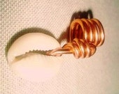 Locs jewelry cowrie shell with copper wire