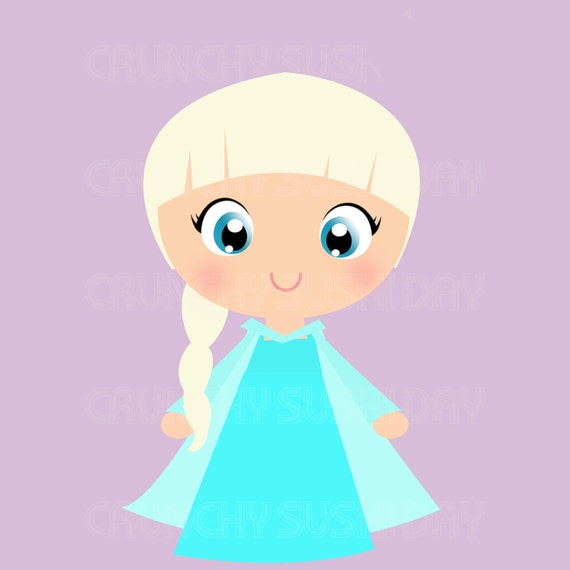 elsa face clipart - photo #8