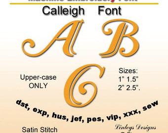 Download  Embroidery Calleigh Calligraphic  Initials.
