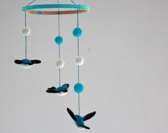 Soaring Tree Swallows - Felt Mobile