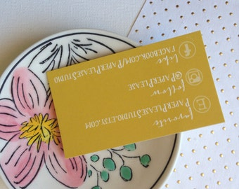 Custom Social Media Business Cards