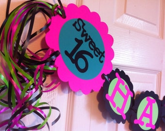 16th Birthday Party Decorations Sweet Sixteen Personalization Available