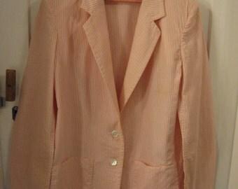 The Villager pink white stripe blazer jacket from 1960s 1950s