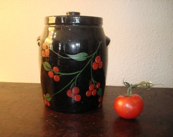 1940s Clay Fired Cherry Jar - Cookie Jar