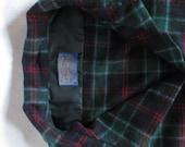 Vintage 1970s Pendleton Shirt Plaid Shirt Button Up Men's Shirt MacTaggart Tartan Size Large