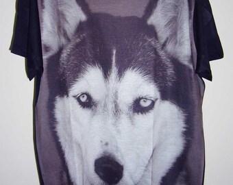 SALE!!! Siberian Dog Wolf Animal Art Tshirt Men Shirt Unisex Tshirt M L