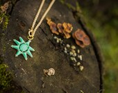 Mint Starburst Necklace