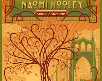Aladdin Theater Poster for Naomi Hooley, Jake Oken-berg, Brian Copeland- St. Johns Bridge