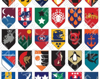 NHL Hockey Game of Thrones Inspired Medieval Fantasy Sigil Poster LARGE 24x36
