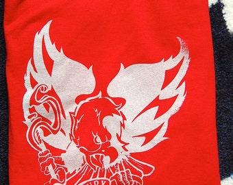 Washington Capitals NHL Hockey Unleash the Fury Eagle Weagle Original Illustration Screenprinted T-Shirt Unisex