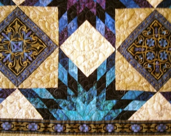 Sophia star design patchwork lap quilt throw size