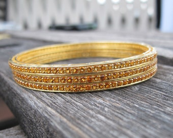 Bangles-Silver Bangle- Citrine Silver Bangle- November Birthstone Bangles- Gold Stone Bangle-Stone Bangle-Gemstone Bangles-Bangles