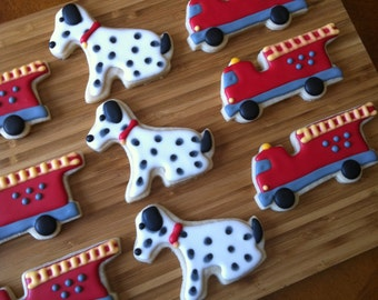 Fire Truck / Dalmatian cookies