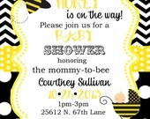 30 Bumble Bee Baby Shower invitations and thank you notes