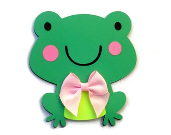 Frog Card, Green Frog Shaped Card , Animal Cards , Kids Cards