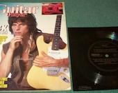 Vintage Guitar Magazine Jeff Beck with Free Flexidisc Record 1985