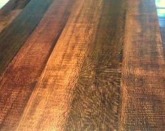kitchen barn wood table multi toned