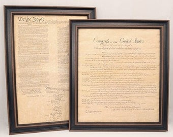 Framed Constitution and Bill of Rights Set. Free Shipping!