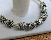 SALE 10 Antique Silver Tone Knot Beads European-Style