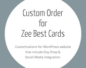 Custom Order for Zee Best Cards