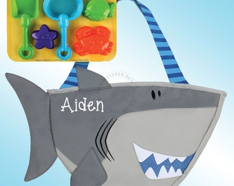 Beach Tote - Personalized and Embroidered - SHARK