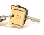 Personalized Leather Key Sleeve / Key Cap / Key Identifier / Key Cover / Tan / Monogram / Made in USA