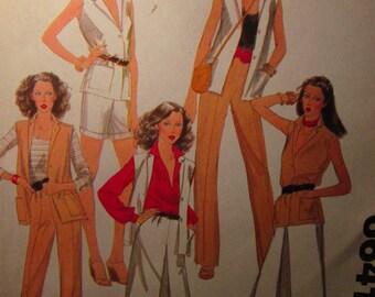 Vintage McCall's Women's Ensemble Pattern  Miss SIZE 10 Bust 32-1/2 Waist 25