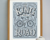 King of the Road - Men's Cycling Print | Bike Print | Cycling Gift | Husband Gift | Boyfriend Gift | Gifts for Men | Fathers Day Gift