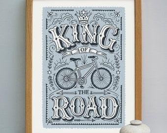 King of the Road - Cycling Print