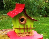 bird house, birdhouse, Small birdhouse with color options, 0801