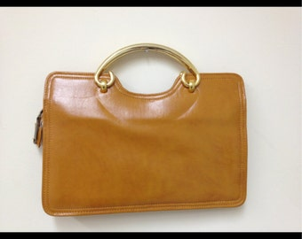 Vintage Camel Leather Purse by Empress