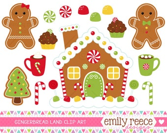 Gingerbread house gumdrop candy can e cocoa cute clip art commercial