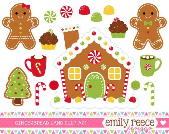 Gingerbread House Gumdrop Candy Cane Cocoa Cute Clip Art ...