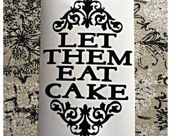 Let Them Eat Cake Vinyl Kitchenaid Mixer Decal