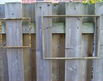 Vintage bamboo styled wood frames