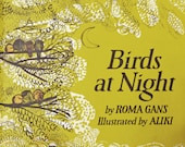 Vintage Book--Vintage Childrens Book--Retro Illustrations--Birds at Night--Vintage Childrens Gift--Gans--Aliki Illustrator--Retro Ephemera