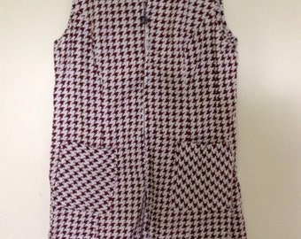 Houndstooth Cotton Romper
