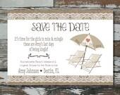 Beach Save the Date - Bachelorette Weekend - Printable