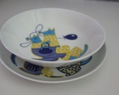"""Kangaroo childrens china bowl or plate (by your choice)  """"Kengu""""  by Arabia Finland - Mint"""