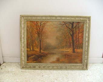 ROBERT WOOD Framed Reproduction On Canvas Litho Of Landscape Painting