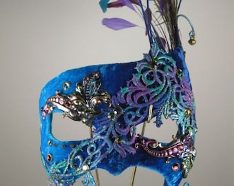 Turquoise Masquerade Mask