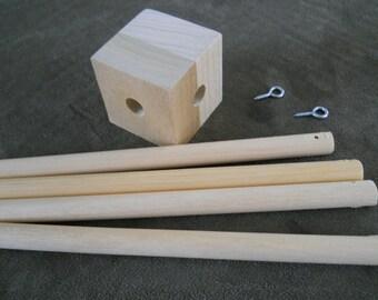 Baby Mobile, wood frame, crib mobile, mobile frame, DIY, Listing is for one frame-DIY Frame KIT