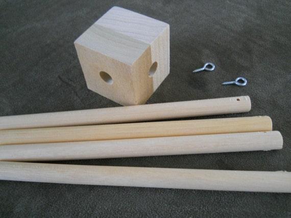 Baby Mobile wood frame crib mobile mobile frame DIY