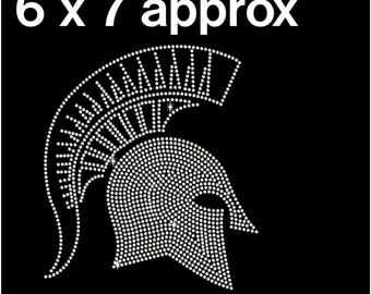 Downloadable Rhinestone spartan trojan  Instant download rhinestone design svg eps ai