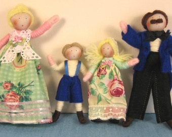 Dolls House Doll Family- customisable (The Olden Day Family)