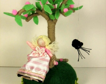 Liitle Miss Muffet soft sculpture