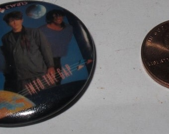 Vintage Collectible Button thompson twins
