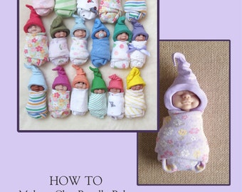 SALE PRICE!! Polymer Clay Tutorial - Make A Clay Baby - Awake or Asleep - PDF - See Sample Pages - Instructions with Photos - Bundle Babies