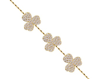 Triple Clover Bracelet